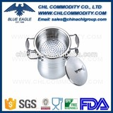 2016 New design Stainless Steel Food Steamer with Glass Lid