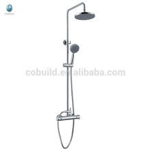 KWM-10 económico baño multifuncional de latón macizo de una sola manija termostática con barra deslizante de ducha de lluvia conjunto de cabezales