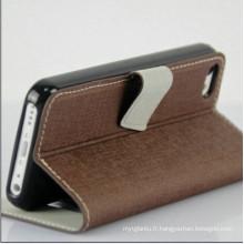 Affaire de téléphone mobile pour l'iPhone 5c OEM Etui cuir iPhone 5c