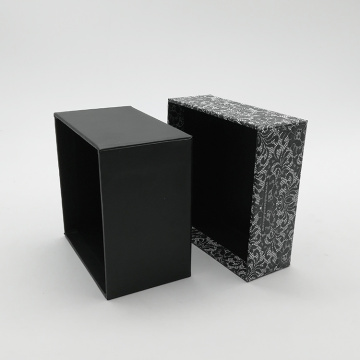European Pattern Lid And Black Bottom Paper Box
