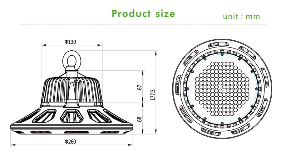 LED High Bay Lights of Industrial
