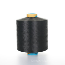 300D dope dyed black polyester filament yarn for making shoelaces