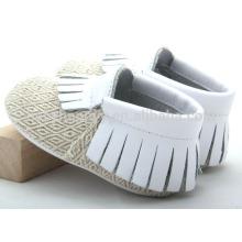 Горячие продавая дешевые ботинки младенца moccasins милые ботинки младенца холстины