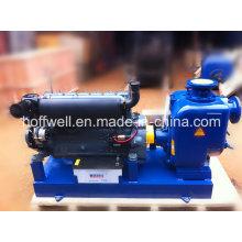 T-4 Pompe à eau centrifuge auto-amorçante d'eaux d'égout