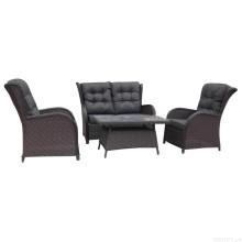 Jardim vime Lounge sofá conjunto Rattan ao ar livre mobiliário