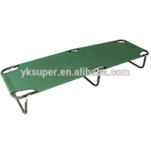 Cama portátil dobrável militar, cama de acampamento do exército feita na China