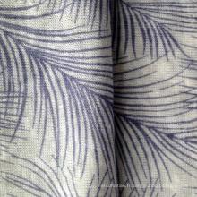 Maillot imprimé tricoté en lin (QF15-2383)