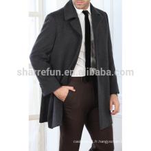 Manteau 100% laine de New Fashion Men avec prix usine
