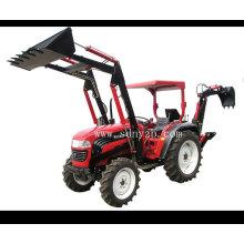 Chargeur frontal et rétrocaveuse de tracteur