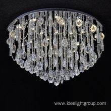 round glass crystal pendant chandelier cristal light