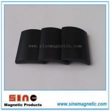 Black Epoxy Arc Neodymium Permanent Magnet