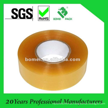 Fita de BOPP amarelada Ahesive para uso de máquina