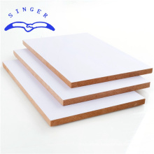 piano 5mm 6x4 white melamine faced mdf board for kitchen kabinet