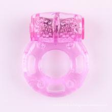 Бесплатный образец Snailage Мужской силиконовый рукав для увеличения пениса Задержка эякуляции Вибрация Кристалл Презерватив V Вибратор Петух кольцо
