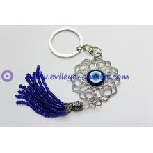 Flowers Evil Eye Keychain Wholesale