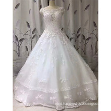 2017 Princess Sleeveless Lace Appliqued Ball Gown Graceful Wedding Dress