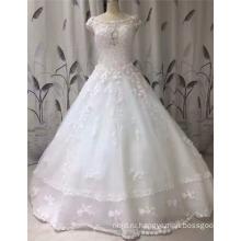 2017 Принцесса Рукавов Кружева Аппликация Бальное Платье Изящное Свадебное Платье