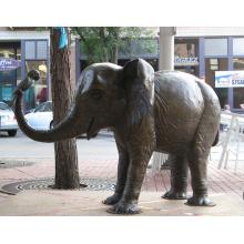 escultura al aire libre de bronce del jardín al aire libre de la fundición escultura del elefante de bronce