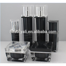 30ml 50ml Luxury Square Acrylic(PMMA) Airless Pump Cosmetic Bottles