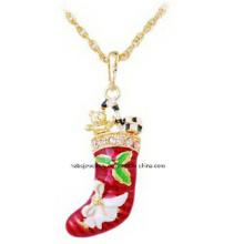 Jóias de natal / natal colar / pingentes de natal (xjw13334)