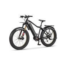 Hydraulic Disc Brakes 1000W Center Motor Fat Tire Electric Bike