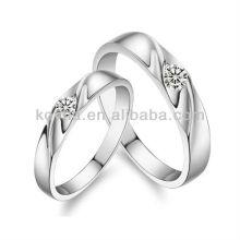 Unique design 925 sterling silver lover diamond rings