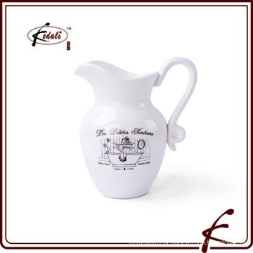 Decalque impresso jarro de água de cerâmica