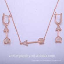 conjunto de joyas africanas chapado en oro rosa para las mujeres bisutería