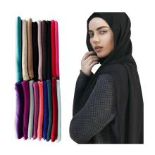 Venda quente atacado mulheres muçulmanas cabeça xale cachecol premium estiramento de algodão Jersey hijab