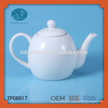 white porcelain tea pot,ceramic teapot for restaurant,LFGB,FDA,CIQ,CE,SGS Certification and Eco-Friendly Feature ceramic tea pot