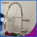 Brush Nickle Pull-Down 3 Color LED Kitchen Sink Faucet (QH0783SSF)