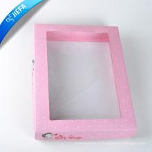 Boîte en carton à la main exquise avec fenêtre
