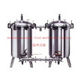Food Grade Stainless Steel Sanitary Dual Duplex Filter