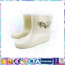 vogue pvc waterproof rain boots for gilr