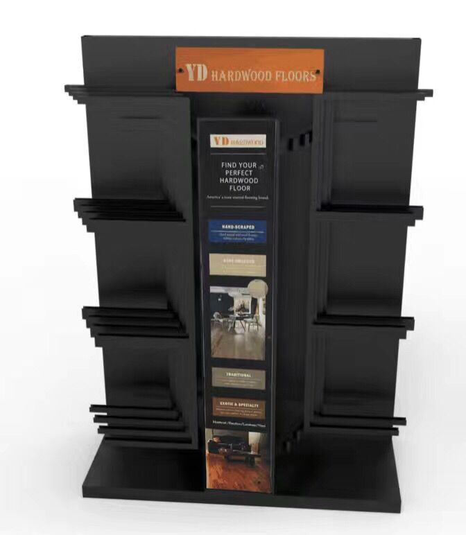 Floor standing display stand for hardwood tile display