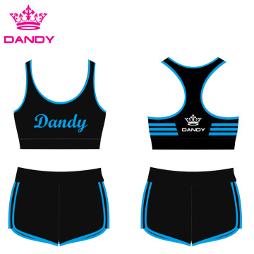 Striped Black Cheer Practice Outfits À vendre