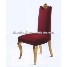 Chaise à manger en tissu rouge XYD034
