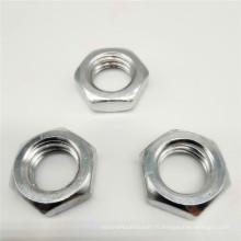 Écrou en nylon à bride hexagonale en acier inoxydable
