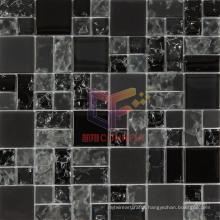 Black Cracked Crystal Mosaic (CC181)