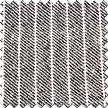 Strip Twill Version Wollstoff in schwarz und weiß
