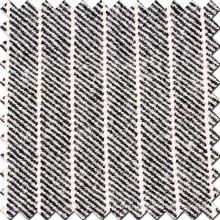 Strip Twill Version Tissu en laine en noir et blanc