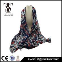 Heiße Art und Weisefrauen des Mädchens weiche viskose vergoldeter langer Schal verpackt Schal