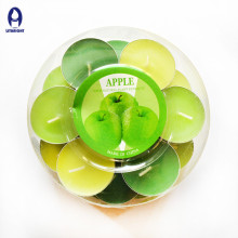 Colorful and scented high quality tealight candle