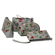 Promotional cosmetic bags, made of nylon, flower printed, nice appearance