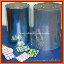 Película rígida de PVC para el paquete de ampolla / paquete médico