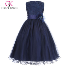 Grace Karin Sleeveless Sequined Flower Girl Princess Bridesmaid Wedding Pageant Party Dress 2~12 Years CL008940-5