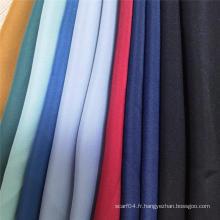 Tissu 100% polyetser en mousseline de soie noire formelle Nida Abaya