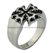 Casting Edelstahl Gothic Kreuz Ring