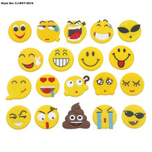 Hot Sale Smile Face PVC Round Dome Fridge Magnet Set