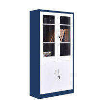 Knock down archive Metal Filing Cupboard Office Filing Cabinet storage steel glass cabinet with lock